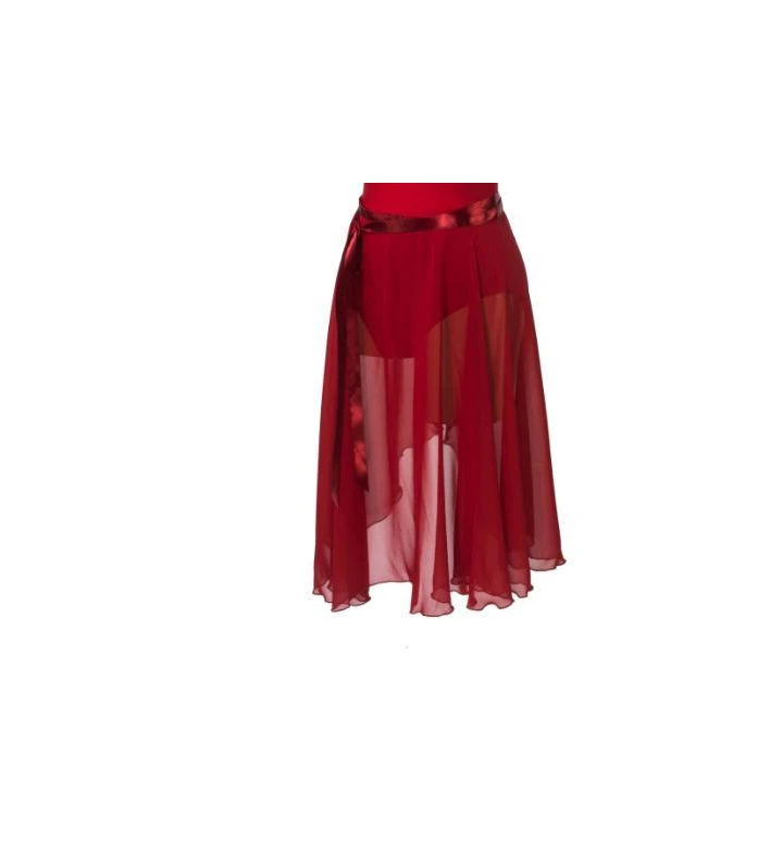 red ballet wrap skirt