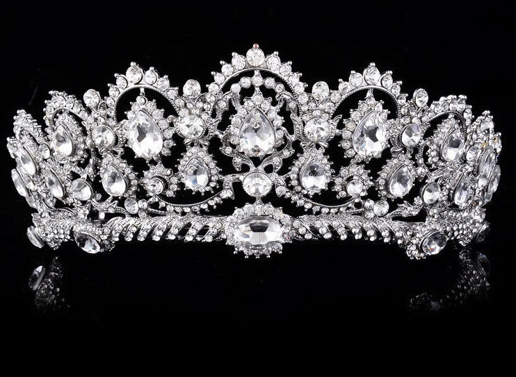 elegant tiara with crystals for ballet or wedding