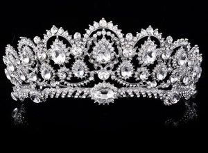 elegant tiara with crystals