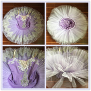 girls professional style bell tutu in lavendar