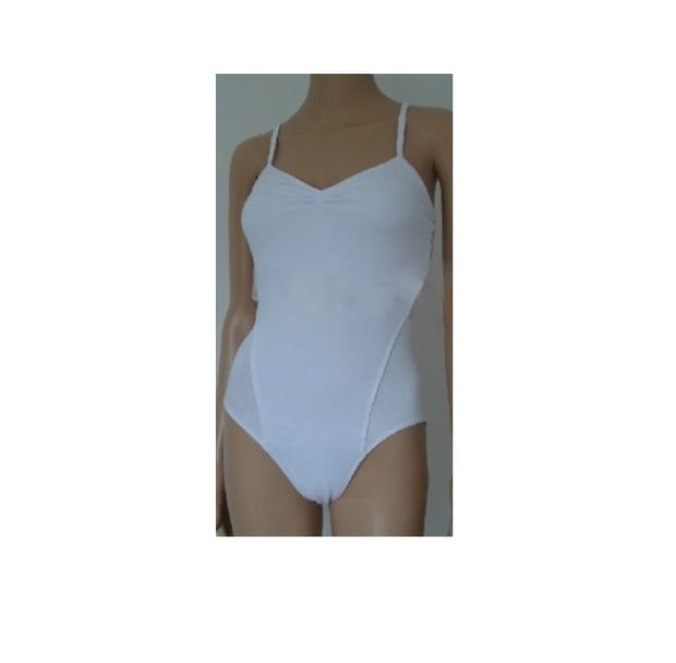 white lace camisole leotard