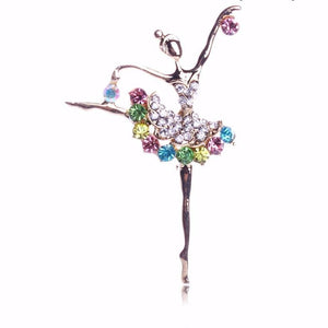 Crystal Ballerina Pin