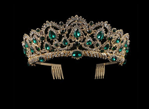 Front of Gold and Emerald ballet tiara