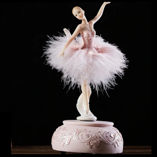 Front of Pink Ballerina music box
