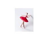 red stud ballerina earrings