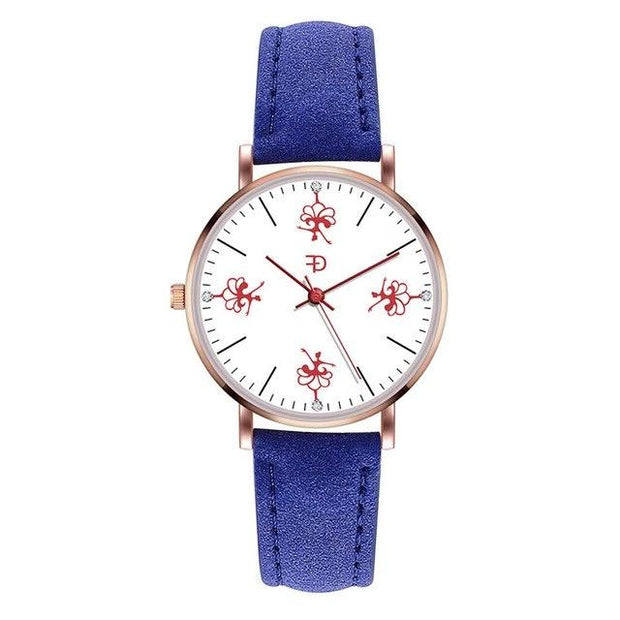 Front of dancer ballerina watch with blue band