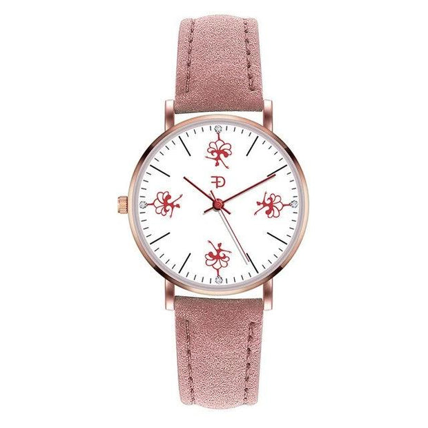 Front of dancer ballerina watch with pink band