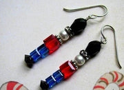 nutcracker toy soldier earrings