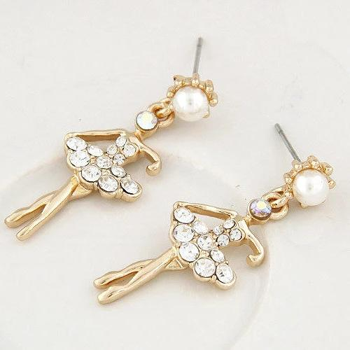Crystal ballerina earrings
