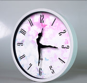 front of ballerina wall clock