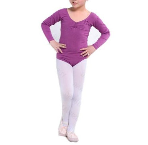 girls purple long sleeve leotard