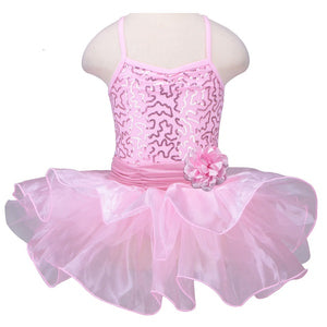 pink girls tutu dress with flower bow