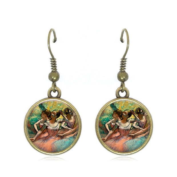 Degas ballerina drop earrings