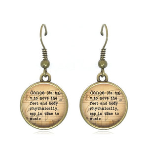 dance drop earrings