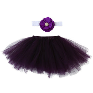 black tutu for baby with matching headband