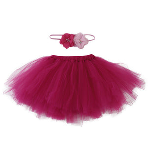 maroon tutu for baby with matching headband