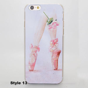 Ballerinapinte Schuhe Iphone Fall