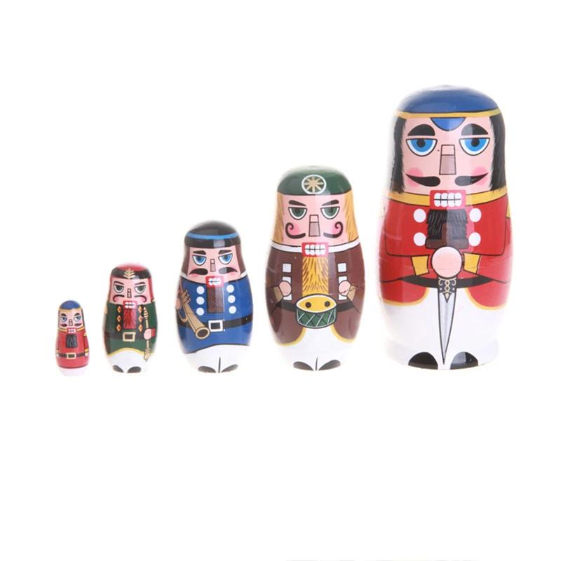 Nutcracker soldier nesting dolls