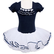 Blue girls tutu dress with white tutu