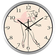 ballerina wall clock with stainless steel rim