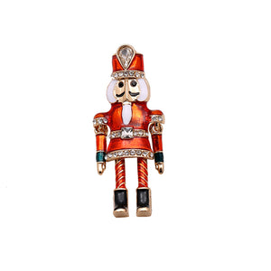 Nutcracker brooch crystal pin
