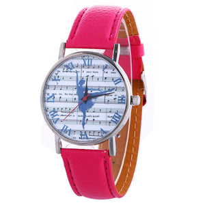 ballerina watch with pink band