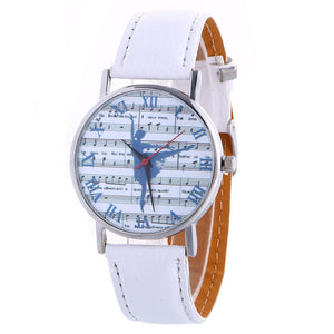 ballerina watch with white band