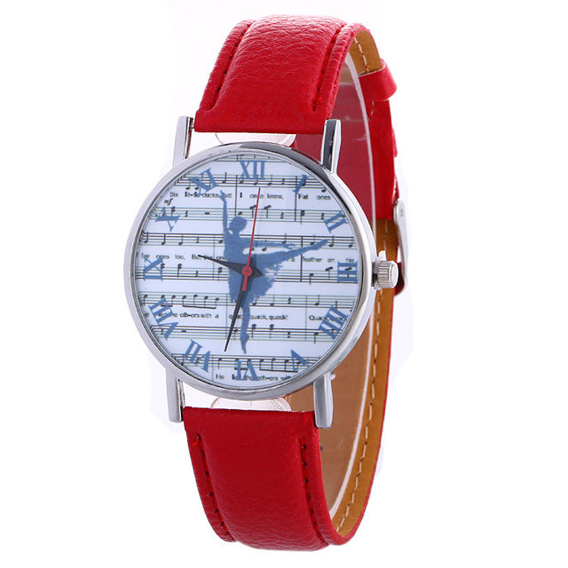 ballerina watch with red band