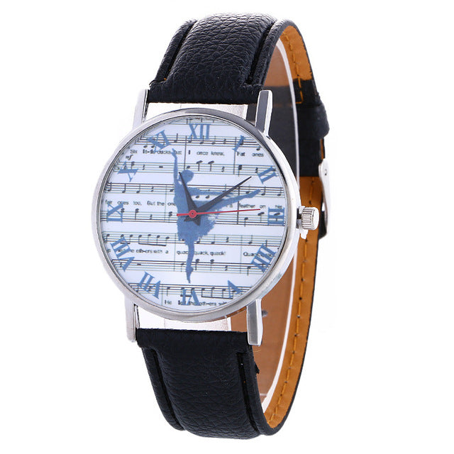 ballerina watch with black band