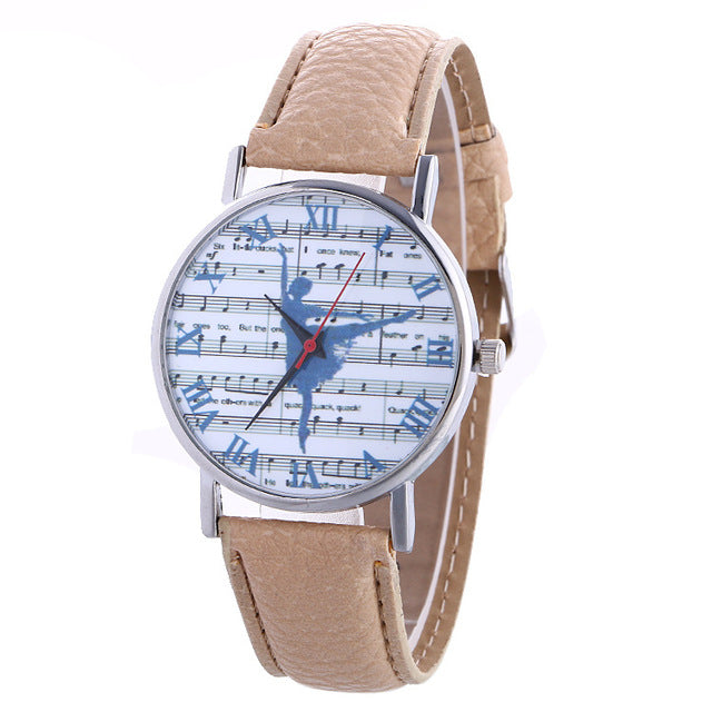 ballerina watch with tan band