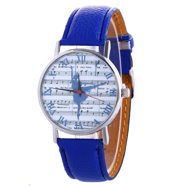 ballerina watch with blue band