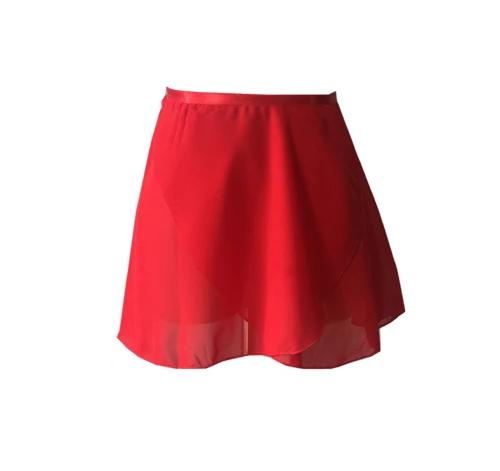 red chiffon ballet skirt
