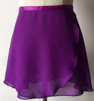 purple chiffon ballet skirt