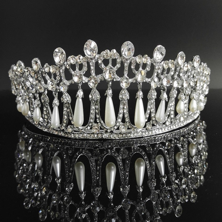 Front of Crystal and pearl princess diana style tiara