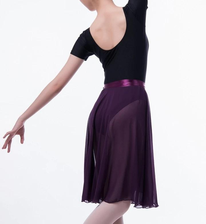 Purple ballet wrap skirt