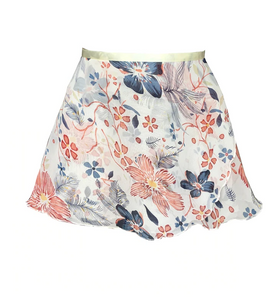 pink and blue floral ballet skirt