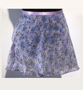Front of ballet wrap skirt lavender