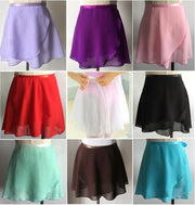 different colored chiffon ballet wrap skirts