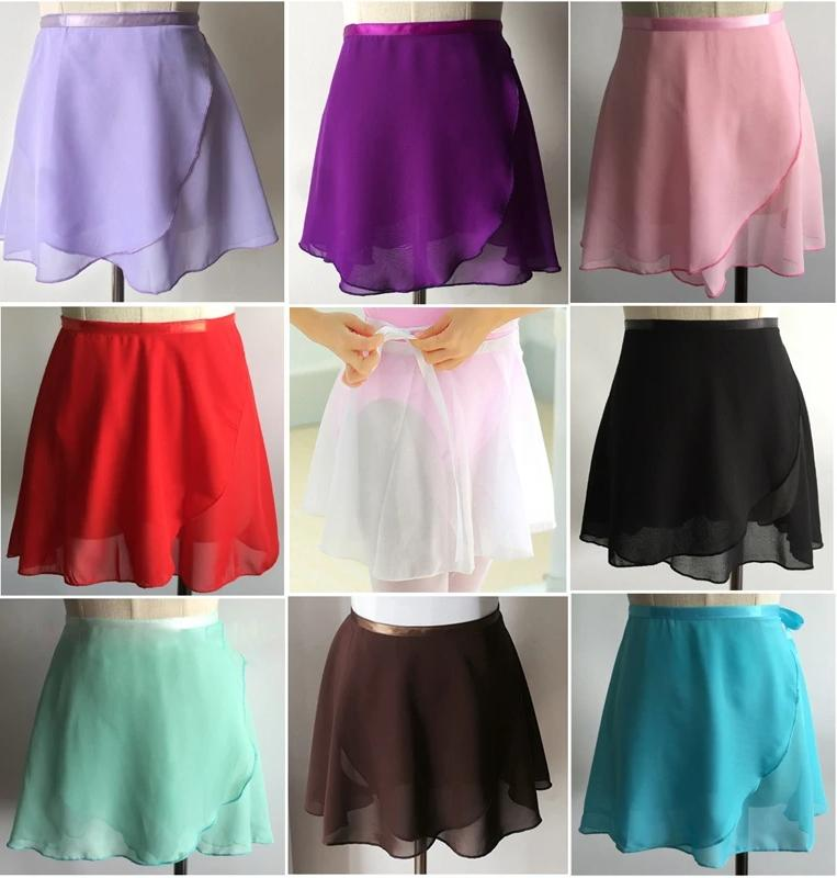 different colored chiffon ballet skirts