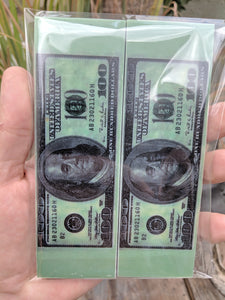 "Money, Benjamin, 100$ - 6 x 1 3/4 x 1/4"" - Scale Set"