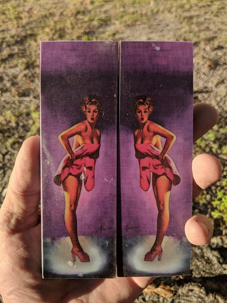 "Poster Girl, Purple,  Vintage -  6 x 1 3/4 x 1/4"" - Scale Set"