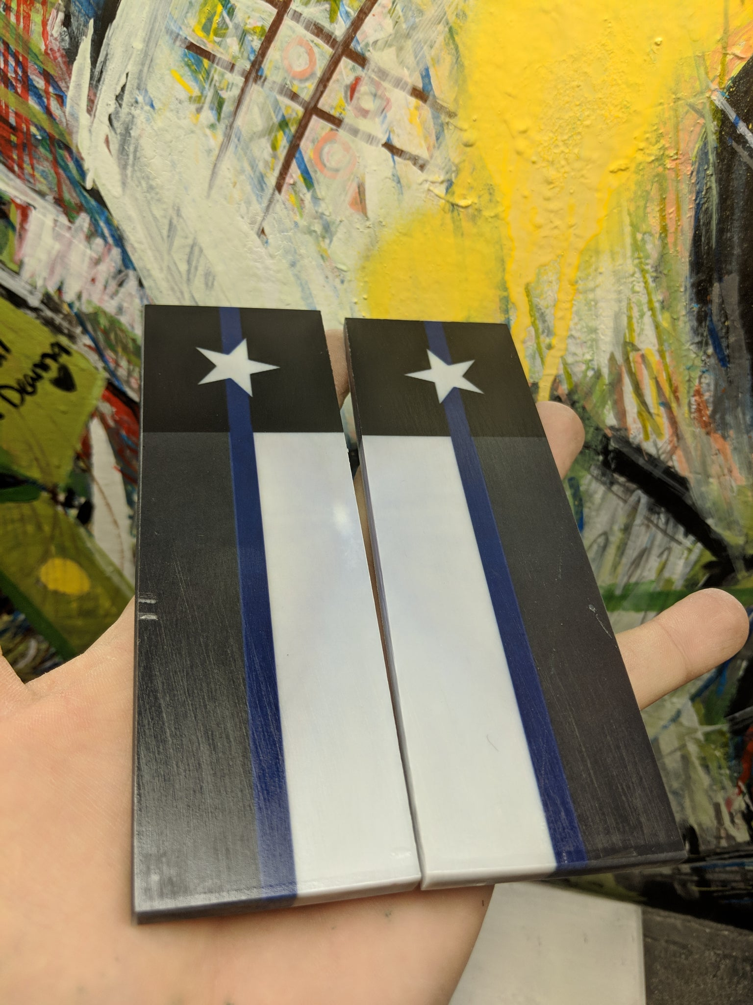 "Texas Thin Blue line,  6 x 1 3/4 x 1/4"" - Scale Set"