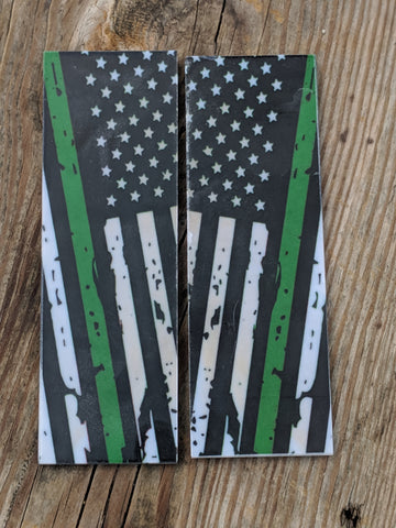 Thin Green Line - 6 x 1 3/4 x 1/4 Scale Set