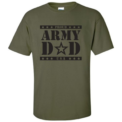 ARMY Dad Short Sleeve T-Shirt in Military Green