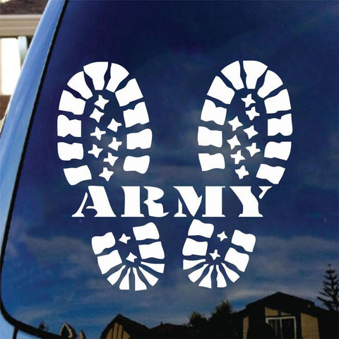 Army Combat Boots Vinyl Decal Car Sticker