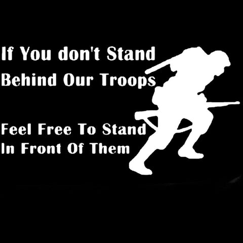 Stand Behind Our Troops Car Sticker