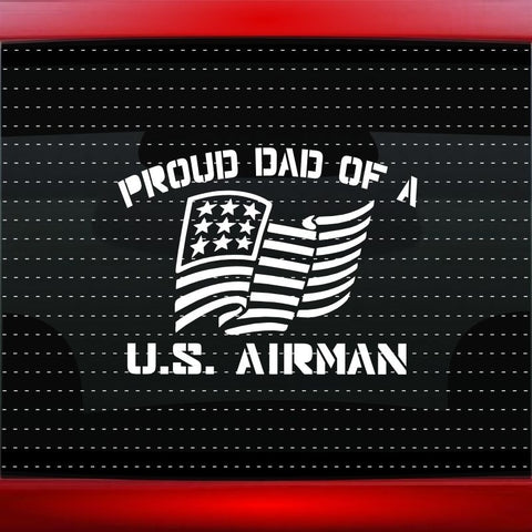 Proud Air Force Dad Car Decal Window Vinyl Sticker