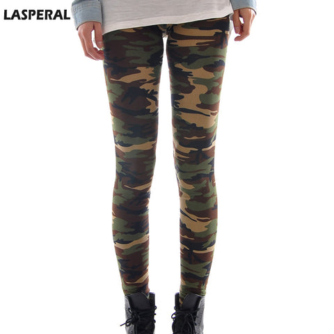 2017 LASPERAL Brands Women Leggings High Elastic Skinny Camouflage Legging Spring Summer Slimming Women Leisure Jegging Pants