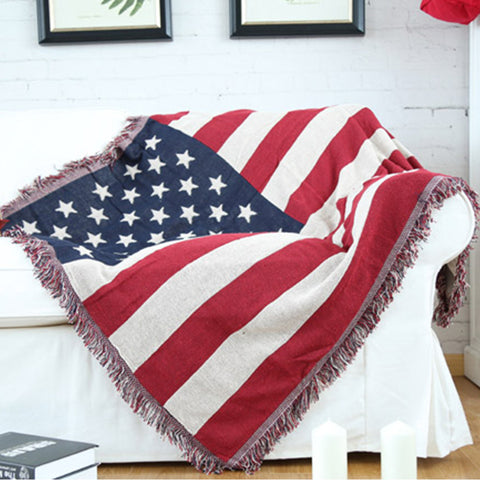 America Style 100% Cotton Throw Double Faced Flag