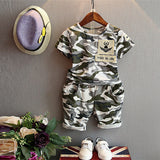 Malayu Baby 2016 children fashion summer baby boys clothing sets  2pcs camouflage sport suit clothes sets boys girls set 2-7Y